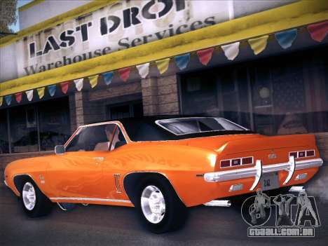 Chevrolet Camaro SS 1969 para GTA San Andreas esquerda vista