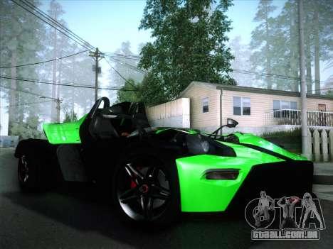 KTM Xbow R para GTA San Andreas vista interior