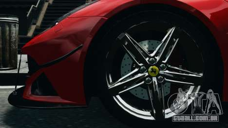Ferrari F12 Berlinetta 2013 Modified Edition EPM para GTA 4 vista de volta