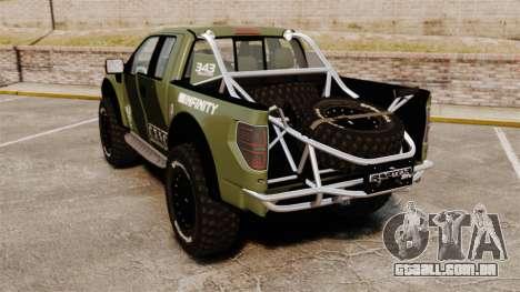 Ford F150 SVT 2011 Raptor Baja [EPM] para GTA 4 traseira esquerda vista