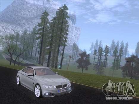 BMW F32 4 series Coupe 2014 para GTA San Andreas esquerda vista