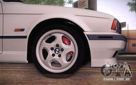 BMW E34 Alpina para GTA San Andreas traseira esquerda vista