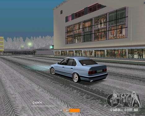 BMW E34 JDM para GTA San Andreas traseira esquerda vista