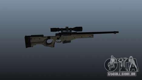 Rifle de sniper AI Arctic Warfare polícia para GTA 4 terceira tela