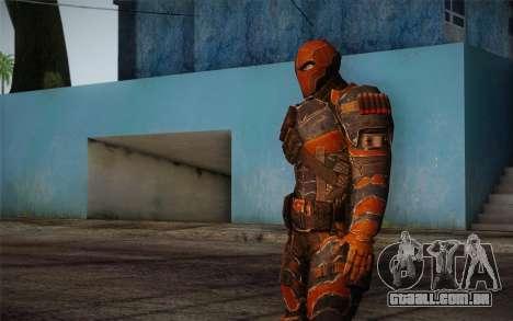 Deathstroke from Batman: Arkham Origins para GTA San Andreas terceira tela