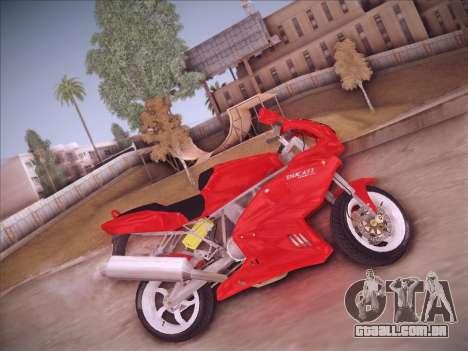Ducati Supersport 1000 DS para GTA San Andreas traseira esquerda vista
