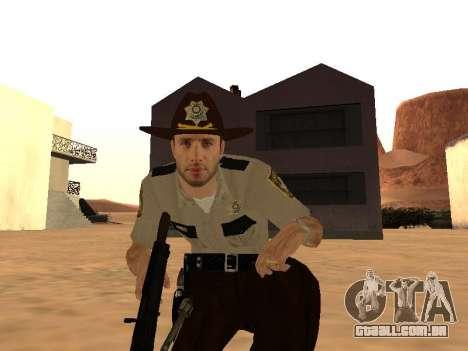 Rick Grimes para GTA San Andreas por diante tela