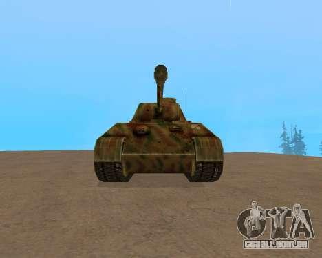 pz.kpfw v Panther para GTA San Andreas esquerda vista