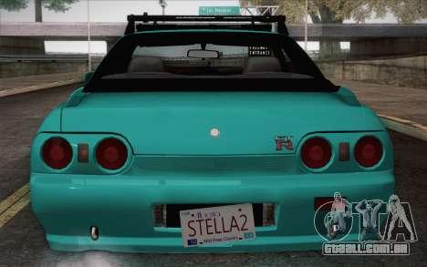 Nissan Skyline R32 Stella para GTA San Andreas traseira esquerda vista