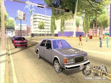 Reflexão única de ENB em máquinas para GTA San Andreas terceira tela