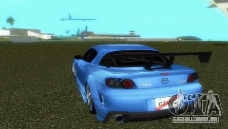 Mazda RX8 Type 1 para GTA Vice City vista interior