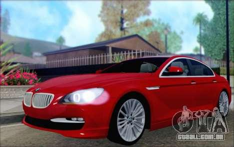 BMW 6 Gran Coupe v1.0 para GTA San Andreas vista traseira
