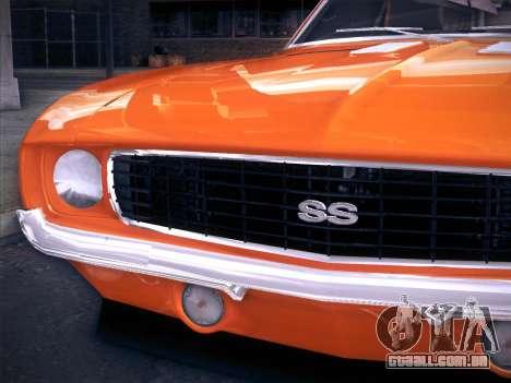Chevrolet Camaro SS 1969 para GTA San Andreas vista direita