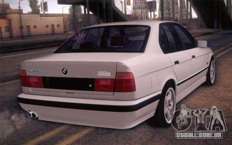 BMW E34 Alpina para GTA San Andreas esquerda vista