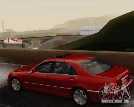 Mercedes-Benz S600 Biturbo 2003 para GTA San Andreas vista interior