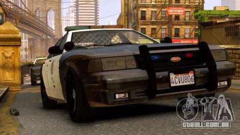 GTA V Police Cruiser para GTA 4 traseira esquerda vista