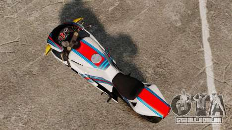 Ducati 848 Martini para GTA 4 traseira esquerda vista