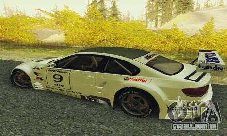 BMW M3 GT2 E92 ALMS para GTA San Andreas esquerda vista