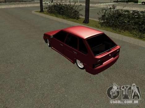 ВАЗ 2114 BPAN para GTA San Andreas traseira esquerda vista