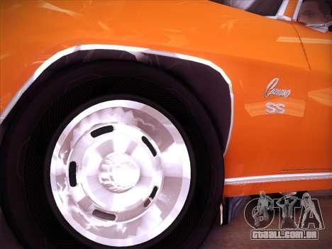 Chevrolet Camaro SS 1969 para GTA San Andreas traseira esquerda vista