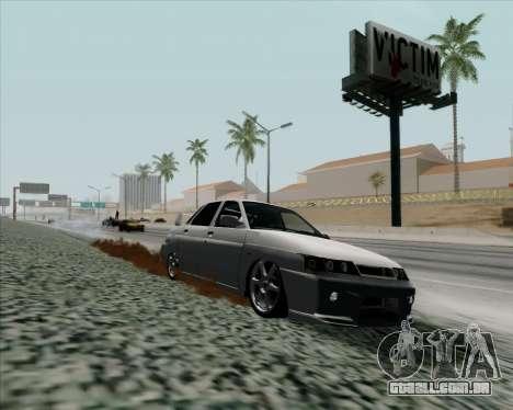 VAZ 2110 v2 para GTA San Andreas traseira esquerda vista
