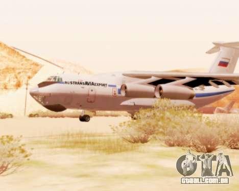 Il-76td v 2.0 para GTA San Andreas traseira esquerda vista
