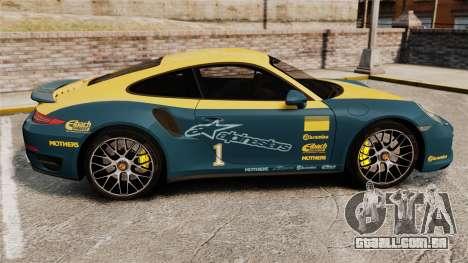 Porsche 911 Turbo 2014 [EPM] Alpinestars para GTA 4 esquerda vista
