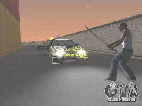 CSO Katana para GTA San Andreas quinto tela