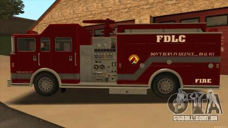 Firetruck HD from GTA 3 para GTA San Andreas esquerda vista