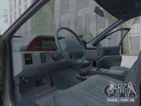 Chevrolet Caprice LAPD 1991 [V2] para GTA San Andreas vista interior