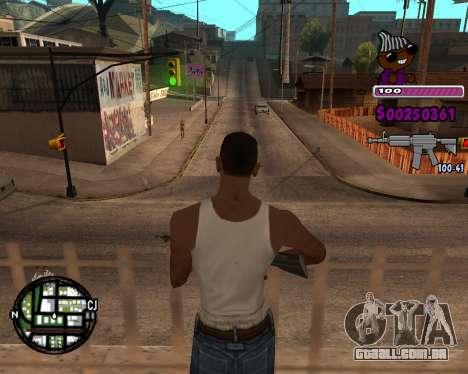 C-HUD for Ballas para GTA San Andreas terceira tela