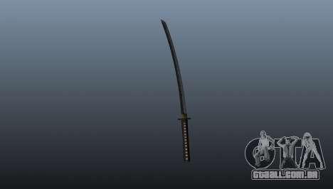 A espada longa japonesa Katana para GTA 4