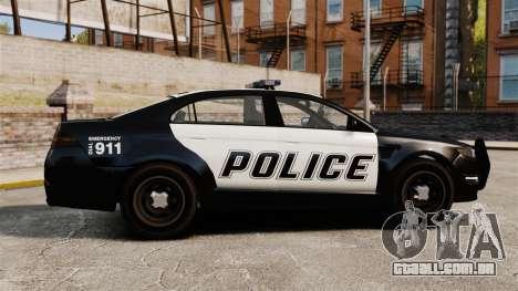 GTA V Vapid Police Interceptor [ELS] para GTA 4 esquerda vista