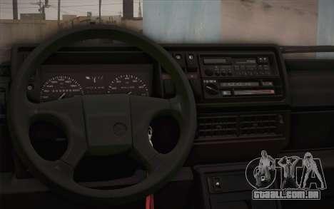 Volkswagen Golf Mk2 GTI para GTA San Andreas vista traseira
