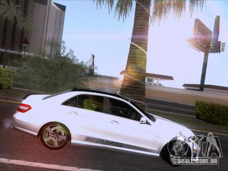 Mercedes-Benz E63 AMG 2011 Special Edition para vista lateral GTA San Andreas