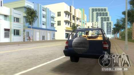 Opel Frontera para GTA Vice City vista traseira esquerda