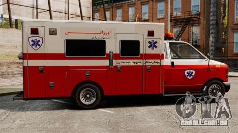 Ambulância iraniana para GTA 4 esquerda vista
