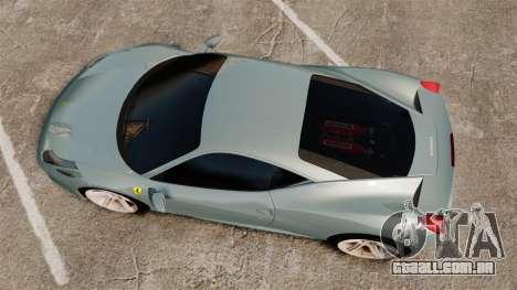 Ferrari 458 Italia 2009 para GTA 4 vista direita
