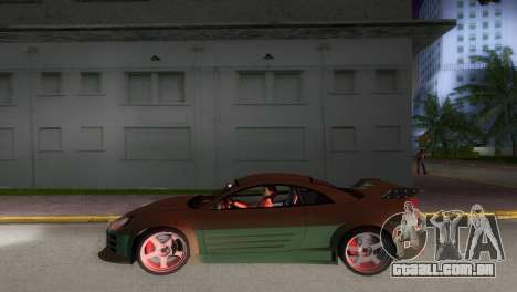 Mitsubishi Eclipse GT 2001 para GTA Vice City vista traseira