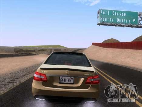 Mercedes-Benz E63 AMG 2011 Special Edition para GTA San Andreas vista traseira