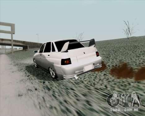 VAZ 2110 v2 para GTA San Andreas vista direita