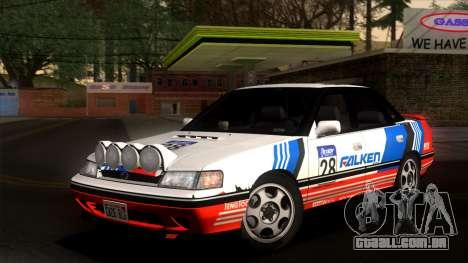 Subaru Legacy 2.0 RS (BC) 1989 para vista lateral GTA San Andreas