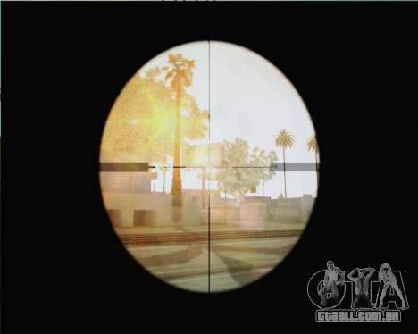 Rifle sniper em chamar de dever MW2 para GTA San Andreas terceira tela