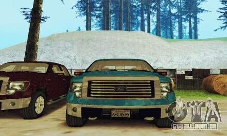 Ford F150 XLT Supercrew Trim para GTA San Andreas vista traseira