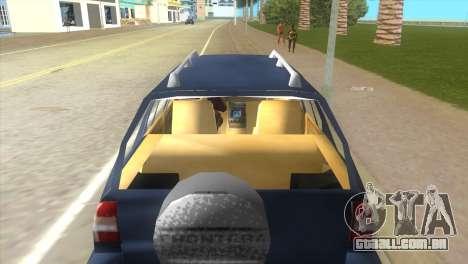 Opel Frontera para GTA Vice City vista direita