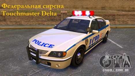 Sirene Federal Touchmaster Delta para GTA 4