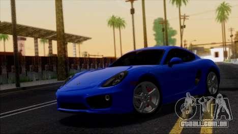 Porsche Cayman S 2014 para GTA San Andreas interior