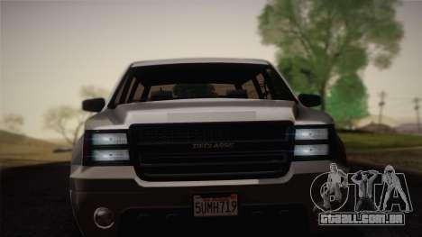Granger Civil de GTA 5 para GTA San Andreas traseira esquerda vista