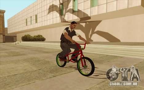 BMX para GTA San Andreas vista interior