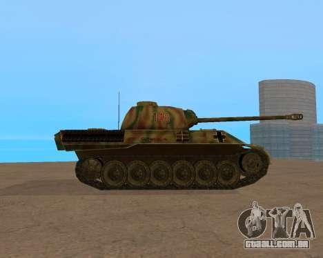 pz.kpfw v Panther para GTA San Andreas vista direita